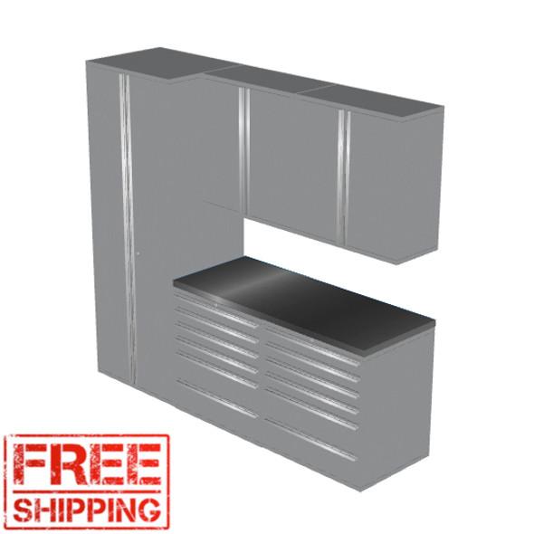 6-Piece Silver Garage Cabinet Set (6007)