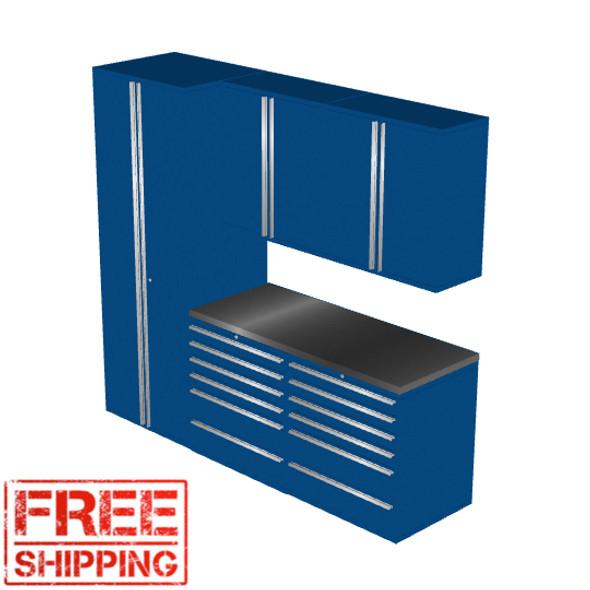 6-Piece Blue Garage Cabinet Set (6007)