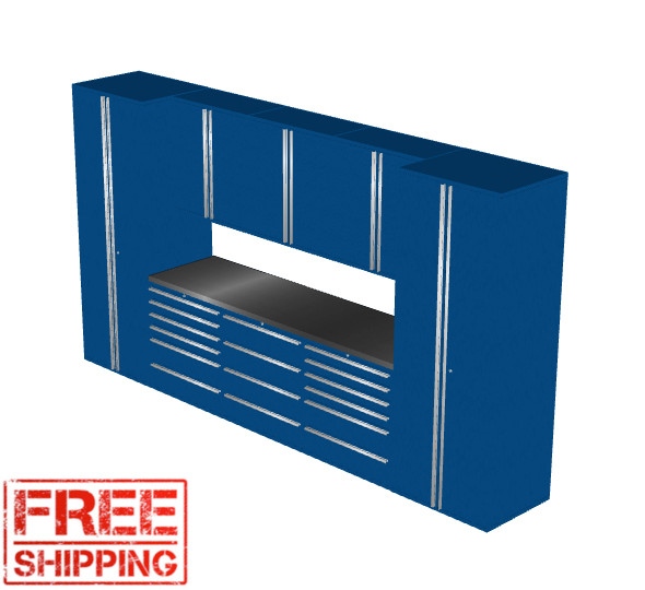Saber 9-Piece Blue Garage Cabinet Set (9002)