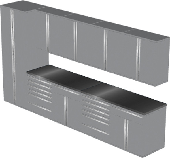 Saber 11-Piece Silver Garage Cabinet Set (11005)