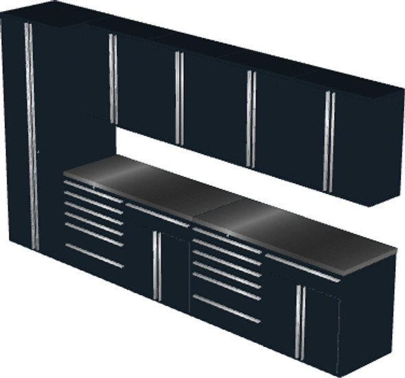 Saber 11-Piece Black Garage Cabinet Set (11005)