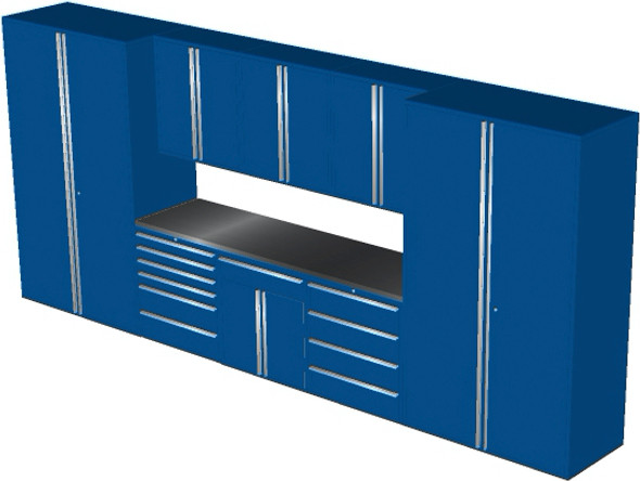 Saber 9-Piece Blue Garage Cabinet Set (9012)
