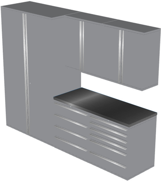 6-Piece Silver Garage Cabinet Set (6010)