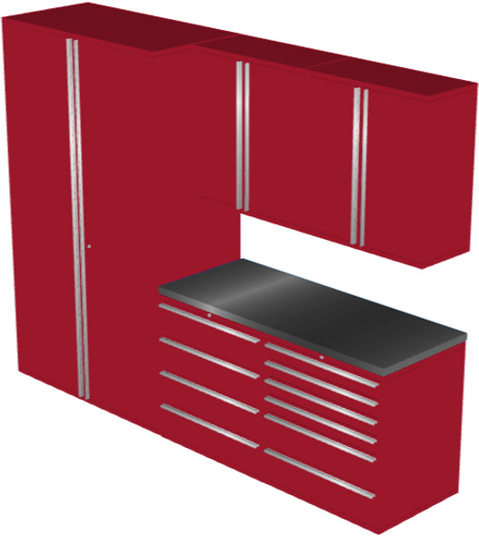 6-Piece Red Garage Cabinet Set (6010)