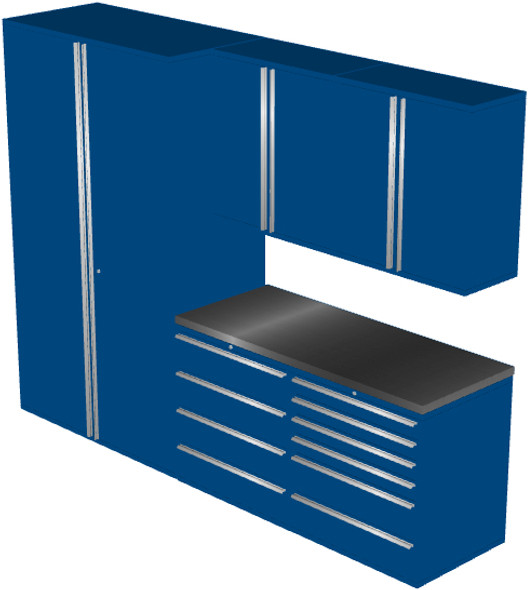 6-Piece Blue Garage Cabinet Set (6010)