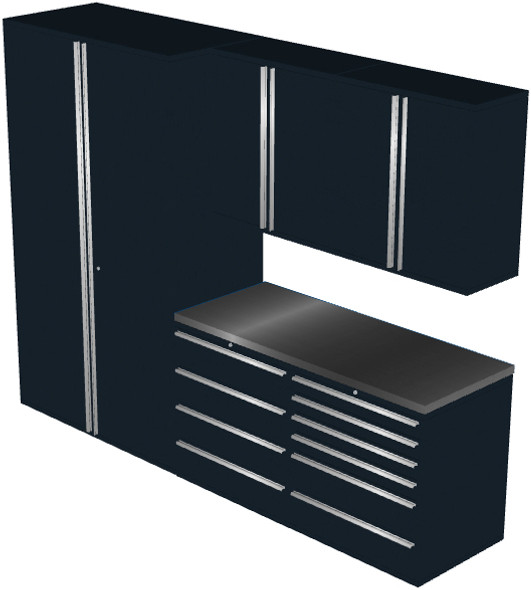 6-Piece Black Garage Cabinet Set (6010)