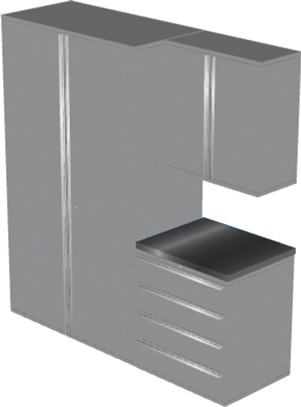 4-Piece Silver Garage Cabinet Set (4008)