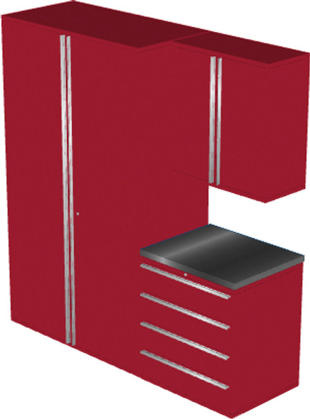 4-Piece Red Garage Cabinet Set (4008)