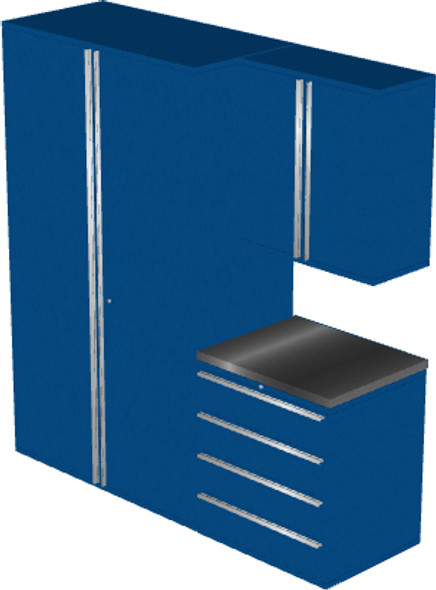 4-Piece Blue Garage Cabinet Set (4008)