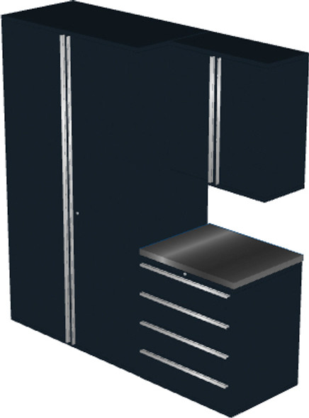 4-Piece Black Garage Cabinet Set (4008)