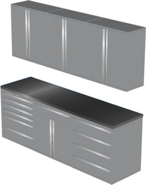7-Piece Silver Garage Cabinet Set (7021)