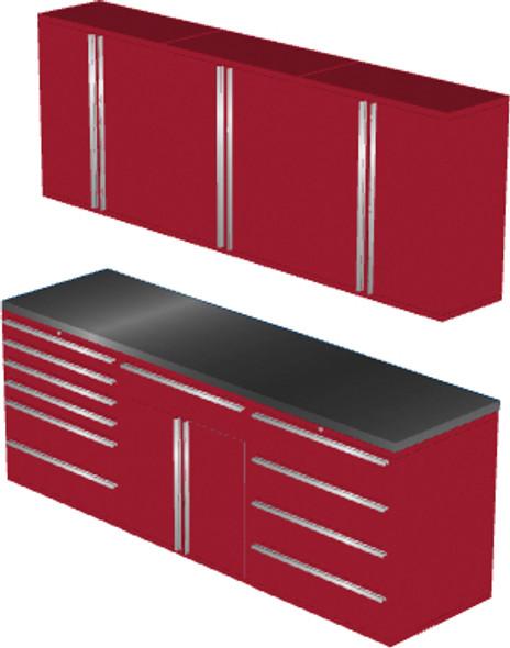 7-Piece Red Garage Cabinet Set (7021)