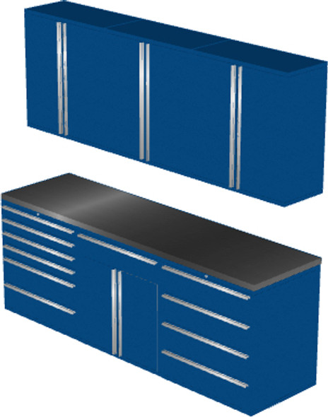 7-Piece Blue Garage Cabinet Set (7021)