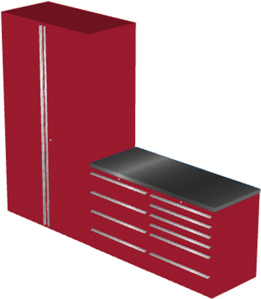 4-Piece Red Garage Cabinet Set (4012)