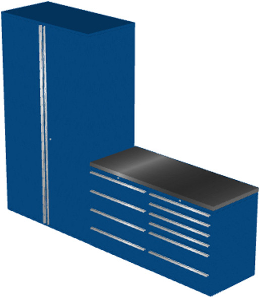 4-Piece Blue Garage Cabinet Set (4012)