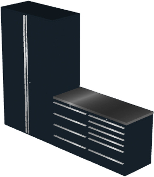 4-Piece Black Garage Cabinet Set (4012)