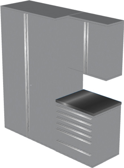 4-Piece Silver Garage Cabinet Set (4009)