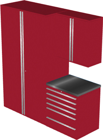 4-Piece Red Garage Cabinet Set (4009)