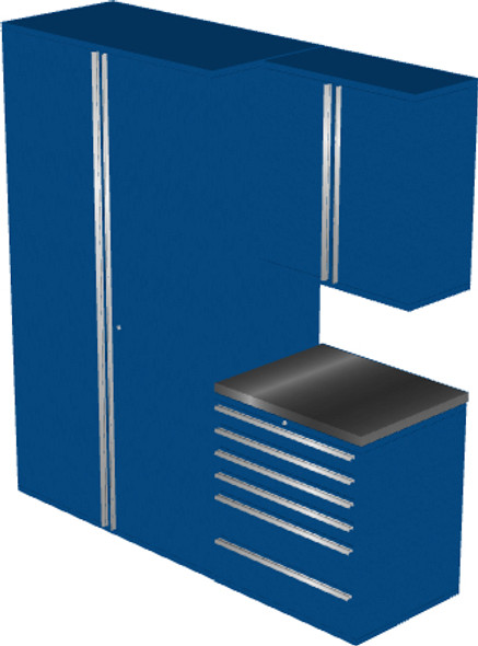 4-Piece Blue Garage Cabinet Set (4009)