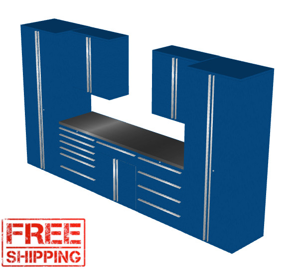 Saber 8030 blue garage cabinet set