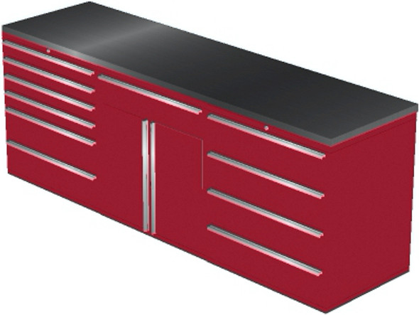 4-Piece Red Garage Cabinet Set (4021)
