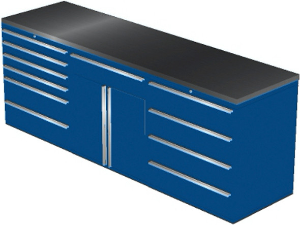 4-Piece Blue Garage Cabinet Set (4021)
