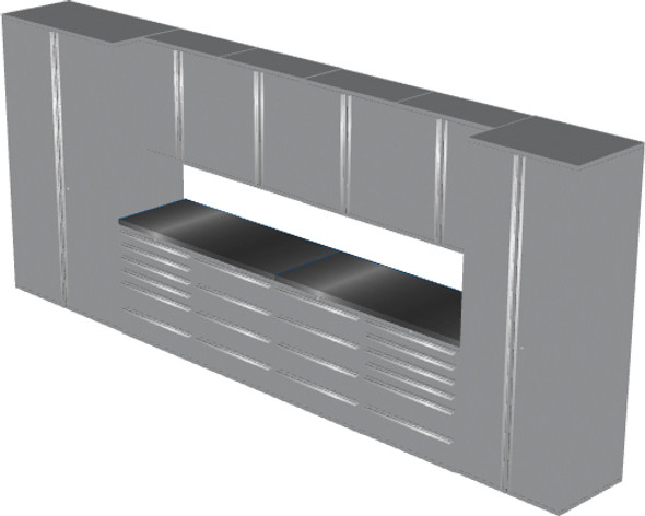 12-Piece Silver Garage Cabinet Set (12004)