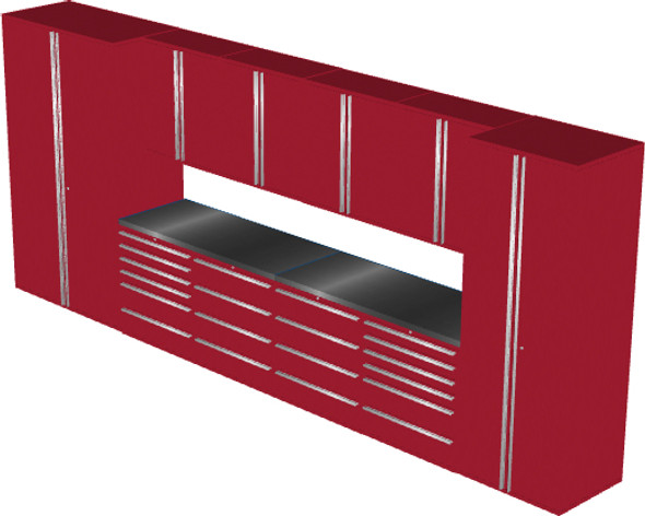 12-Piece Red Garage Cabinet Set (12004)