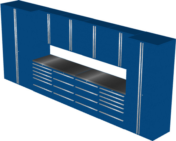 12-Piece Blue Garage Cabinet Set (12004)