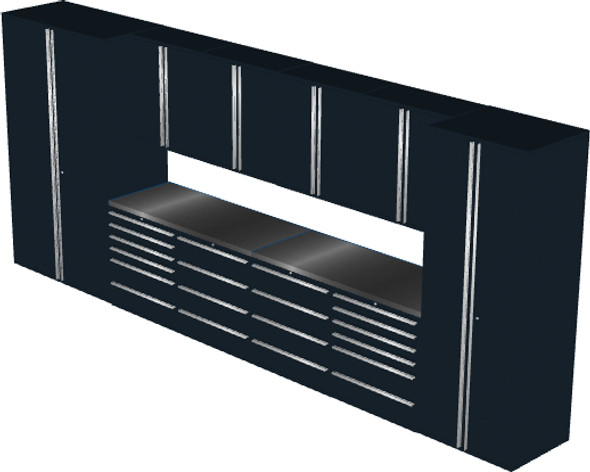 12-Piece Black Garage Cabinet Set (12004)
