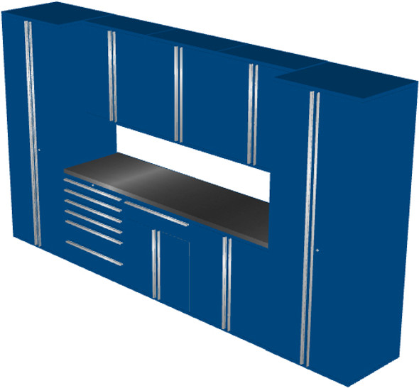 Saber 9-Piece Blue Garage Cabinet Set (9013)