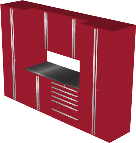 Saber 7-Piece Red Garage Cabinet Set (7006)
