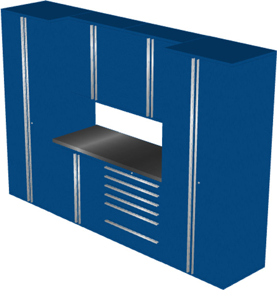 Saber 7-Piece Blue Garage Cabinet Set (7006)