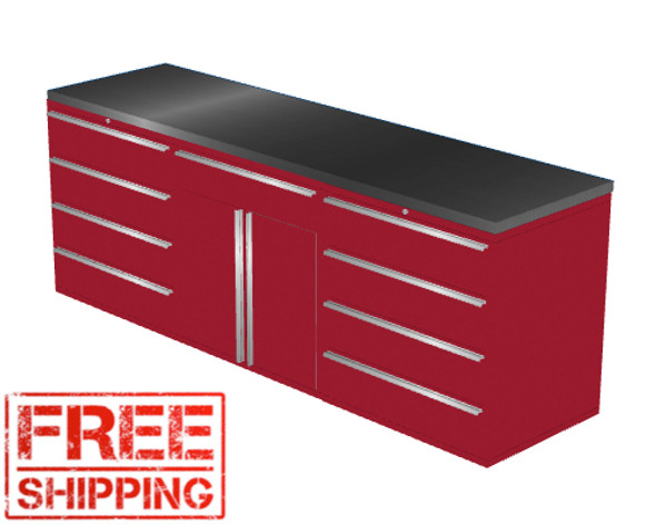 4-Piece Red Garage Cabinet Set (4022)