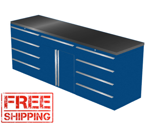 4-Piece Blue Garage Cabinet Set (4022)