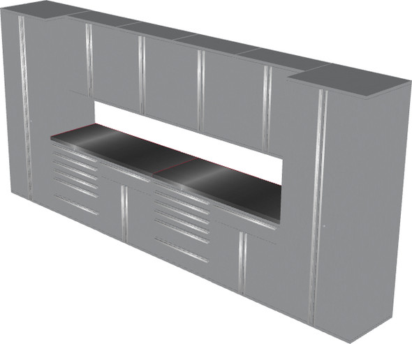 12-Piece Silver Garage Cabinet Set (12005)