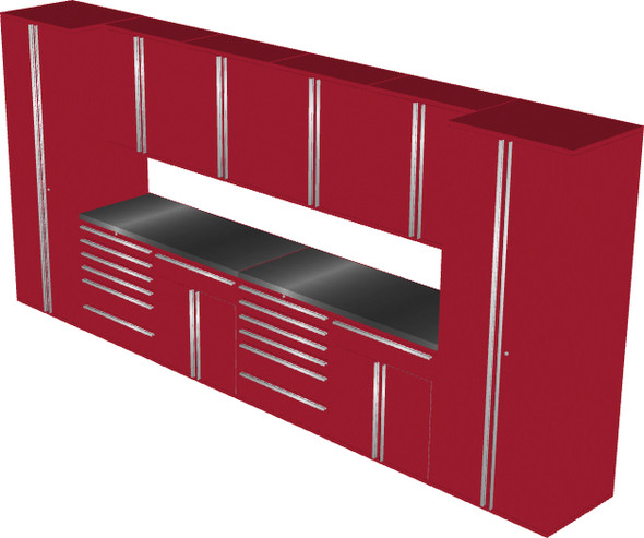 12-Piece Red Garage Cabinet Set (12005)