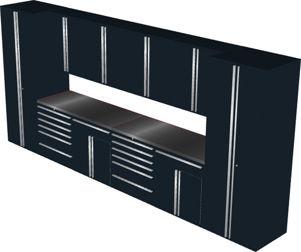 12-Piece Black Garage Cabinet Set (12005)