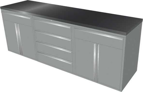 4-Piece Silver Garage Cabinet Set (4023)