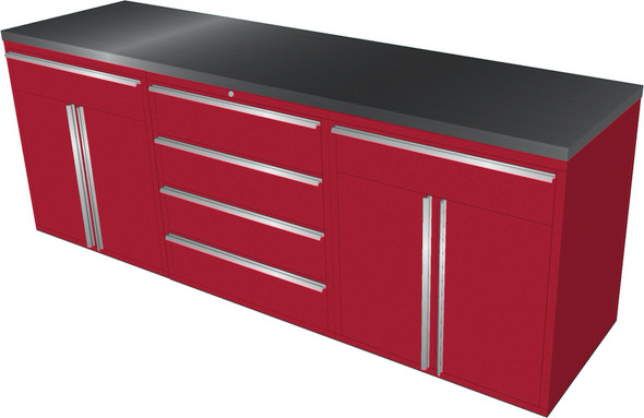 4-Piece Red Garage Cabinet Set (4023)