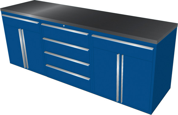4-Piece Blue Garage Cabinet Set (4023)