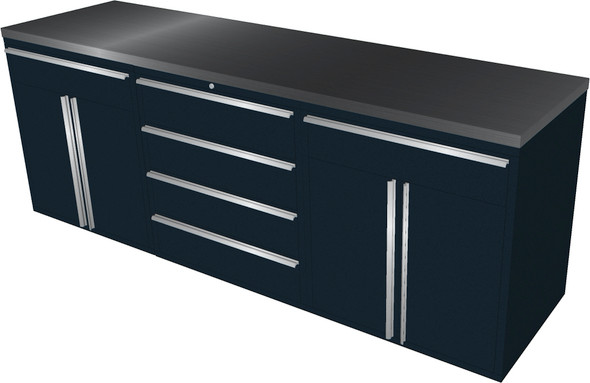 4-Piece Black Garage Cabinet Set (4023)