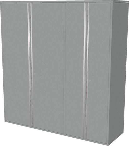 2-Piece Silver Garage Cabinet Set (20780)