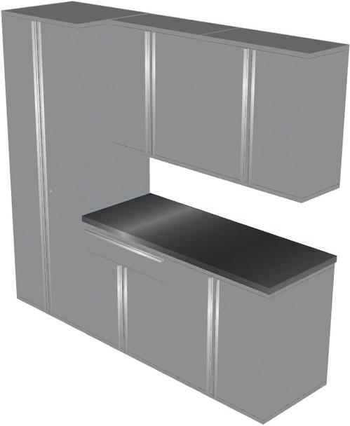 6-Piece Silver Garage Cabinet Set (60904)