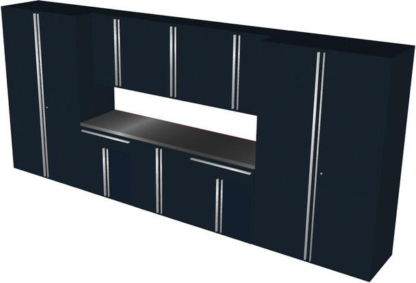 Saber 9-Piece Black Garage Cabinet Set (901866)