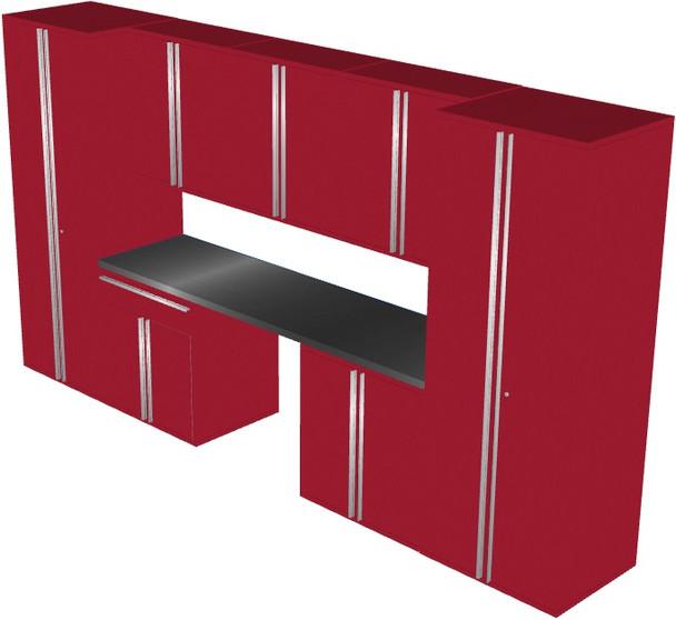 Saber 8-Piece Red Garage Cabinet Set (801503)