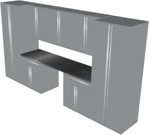 Saber 8-Piece Silver Garage Cabinet Set (801504)