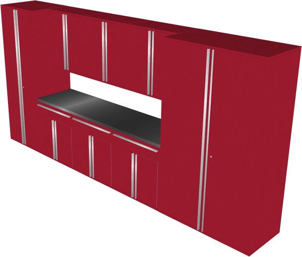Saber 9-Piece Red Garage Cabinet Set (901680)