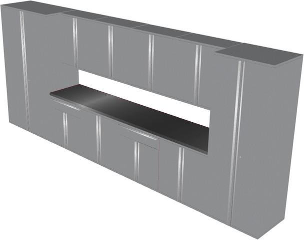 12-Piece Silver Garage Cabinet Set (121984)