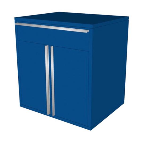 Saber blue 1 drawer base cabinet